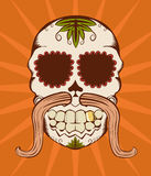 Vector illustration of orange sugar skull. Vector illustration of orange decorative sugar skull Stock Images