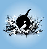 Vector illustration of orcas Royalty Free Stock Photos