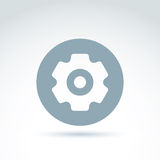 Vector illustration of an organization system, strategy concept. Cog-wheels and gears placed in a circle, service icon. Business and manufacturing process Royalty Free Stock Photo