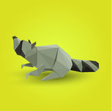 Illustration of origami raccoon Royalty Free Stock Photography