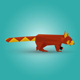 Illustration of origami red panda Royalty Free Stock Photography
