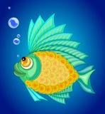 Vector illustration ornamental fish. Stock Photos