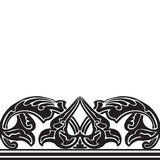 Vector illustration of ornamental seamless border (Arabic style) Royalty Free Stock Image