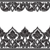 Vector illustration of ornamental seamless border (Arabic style) Royalty Free Stock Photos