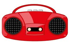 Player of the cassettes music. Vector illustration of the outdated player of the cassettes music Stock Photos