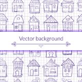 Vector illustration outine houses Stock Image