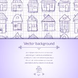 Vector illustration outine houses Royalty Free Stock Image