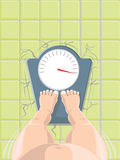 Vector illustration of overweight concept Stock Photo