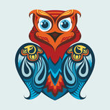 Vector illustration of an owl. Abstract vector illustration of an owl. Graphic design Royalty Free Stock Photo