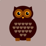 Vector Illustration of owl Stock Image