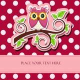Vector illustration. Owl on a branch Stock Photos