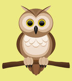 Vector illustration. Owl. Royalty Free Stock Image