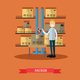 Vector illustration of packer in flat style Royalty Free Stock Photos