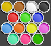 Vector illustration of paint cans Royalty Free Stock Photos