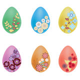 Vector illustration of painted easter eggs Stock Photography