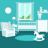 Children`s room. Vector illustration. Painted in shape royalty free illustration