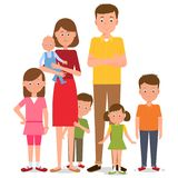 Large parents. Vector illustration. Painted in shape vector illustration
