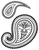 Vector illustration of paisley pattern Stock Photos