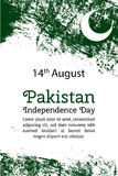 Vector illustration Pakistan National Day, Pakistan flag in trendy grunge style.14 August design template for poster Royalty Free Stock Photography
