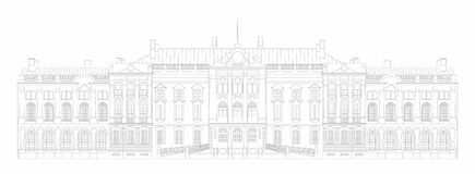 Vector illustration palace. Vector illustration of a white palace Royalty Free Stock Image