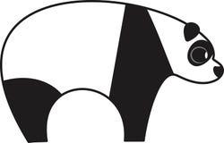 Vector illustration of  a panda bear. Vector illustration of a stylized panda bear Stock Photos