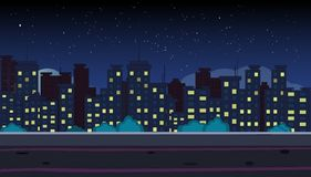 Night City royalty free illustration
