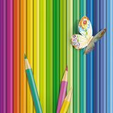 Vector illustration of paper butterfly Stock Photography