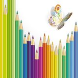 Vector illustration of paper butterfly Stock Images