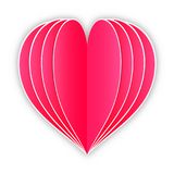 paper heart on white background Stock Images
