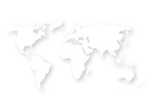 Vector illustration of a paper map of the world Stock Photos