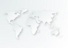 Vector illustration of a paper map of the world Royalty Free Stock Images