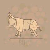Vector illustration paper origami of bull. Stock Photos