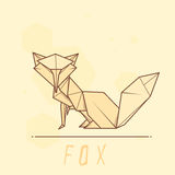 Vector illustration paper origami of fox. Royalty Free Stock Image