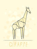 Vector illustration paper origami of giraffe. Royalty Free Stock Photos