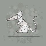 Vector illustration paper origami of mouse. Stock Photos