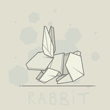 Vector illustration paper origami of rabbit. Stock Photo