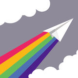 Vector illustration of Paper plane Stock Image
