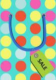 Vector illustration of paper shopping bag Stock Photos