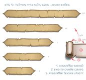 Papyrus Tittle Tag Five Sizes - Arched Edges Royalty Free Stock Images