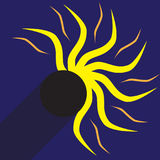 Vector illustration of a partial solar eclipse Royalty Free Stock Images