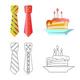 Vector illustration of party and birthday symbol. Collection of party and celebration stock vector illustration. vector illustration