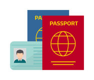 Vector illustration passport with tickets. Stock Images