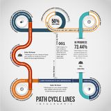 Path Cycle Lines Infographic Royalty Free Stock Photo