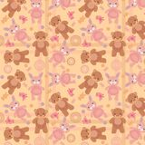 Vector illustration pattern bears and hares Stock Images