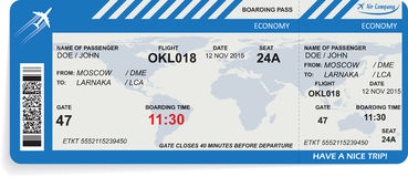 Vector illustration of pattern of boarding pass Royalty Free Stock Photo