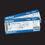 Vector illustration of pattern boarding pass Royalty Free Stock Photos