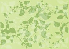 Vector Illustration pattern green sprouts with lea Stock Photography