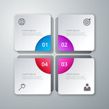 Vector illustration of a pattern of infographics  Stock Photography