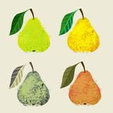 Vector illustration of a pear fruits. Royalty Free Stock Photography