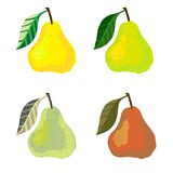 Vector illustration of a pear fruits. Stock Photo